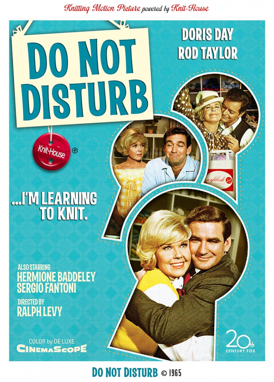 Do not Disturb I'm Learning to Knit - 1965
